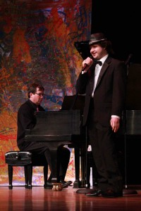 Travis Hall performs with pianist, David Chown at Act's Celebration Benefit.  Photo by Wendy Nienhouse