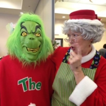 Grinch and Mrs. Claus